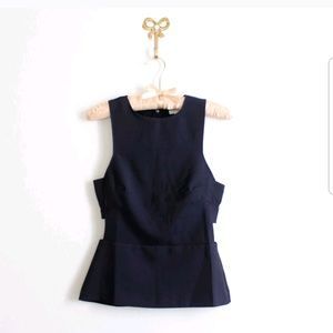 H&M Top with cutouts NWT